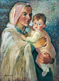 Vierge a l enfant regner