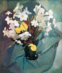 Narcisses et tulipes jaunes regner